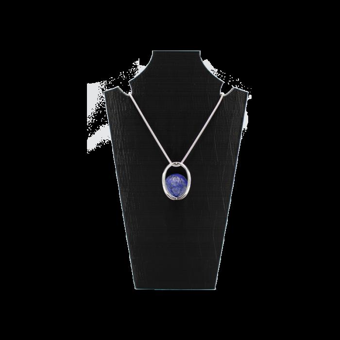 Dubbel ellips met lapis lazuli