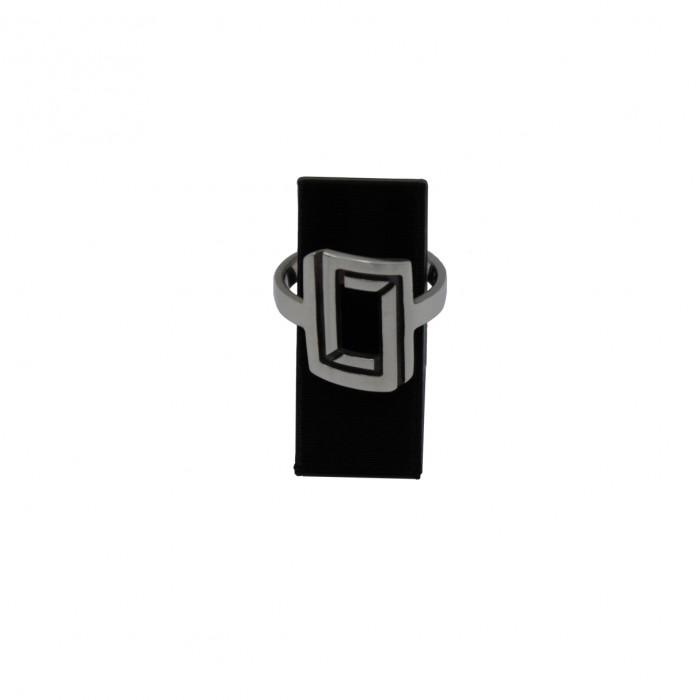 Rectangular illusion ring