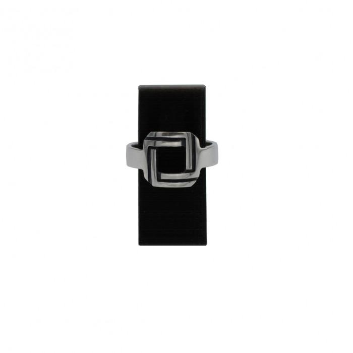 Square illusion ring
