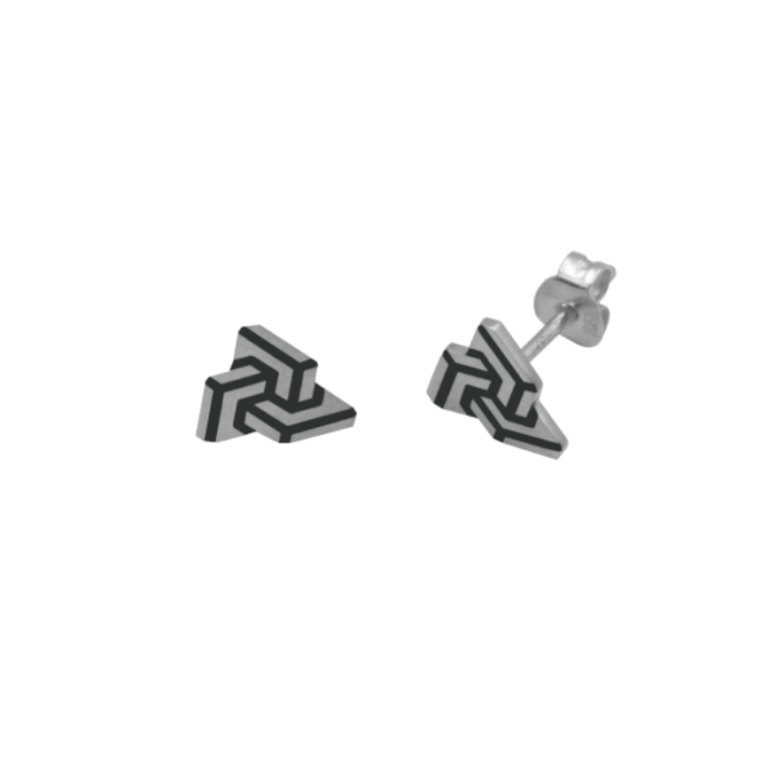 Impossible puzzle ear studs